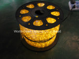 3 LED Flat Cable amarillo de la luz de la cuerda, soga Tira de luz, luz