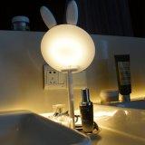 化粧品、ギフト、読書、旅行のためのLEDによってつけられる構成ミラー、ウサギ整形Foldable虚栄心ミラー、卓上スタンドおよび夜ライト