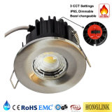 3 fuoco variabile Downlight Rated di temperatura di colore IP65 Dimmable LED