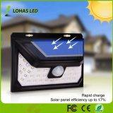 Capteur de mouvement étanche à l'extérieur de la sécurité lumineux allume la LED solaire lumières solaires
