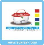 Tanque de peixes colorido do aquário plástico do tanque de peixes D1