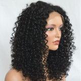 Фронта шнурка Dlme парик волос черного курчавого синтетический