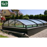 Fashion bâche de piscine avec cadre en aluminium et le panneau de toiture en polycarbonate