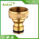 Ajustage de précision en laiton de tuyauterie de jardin de boyau réutilisable extensible de frein
