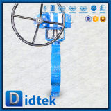 Doppia valvola a farfalla eccentrica di rendimento elevato dell'acciaio inossidabile di Didtek