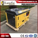 10kw Diesel van de Cilinder van 15kVA Dubbele Luchtgekoelde Super Stille Generator