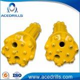 Pressão de ar elevada Botão martelo DTH Brocas para mineração/Furação
