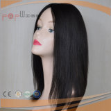 Cabello sedoso de Color Natural recta peluca (PPG-L-0038)