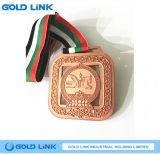 記念品メダル金属はカスタムメダルインドの昇進のギフトを制作する