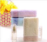 essuie-main 100% de Bath de salle de bains de jacquard de coton du luxe 500g pour l'hôtel