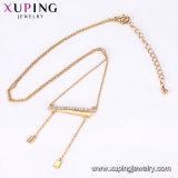 44102 Xuping moda collar de color oro 18K.