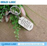Suporte da chave da promoção da corrente chave de Tag de cão do anel chave do metal