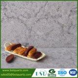 камень кварца высокой твердости 2cm серый для Countertop с черными венами