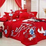 De reactieve Koning van de Luipaard van Af:drukken/Koningin Size Cotton Bedding Set