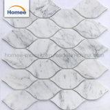 Carrera de diseño italiano Linterna blanco mosaico de mármol por chorro de agua