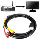3RCA 케이블 1.5m HDTV를 위한 5FT 영상 오디오 변환기 케이블에 HDMI
