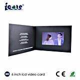 Heißer Verkauf! 6 Zoll-videobroschüre für das Produkt-Bekanntmachen/Festival-Gruß/Geschenk/Einladung