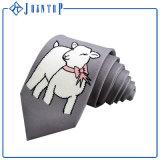 Cravate tissée par logo de couleur solide de logo de Customed pour l'homme