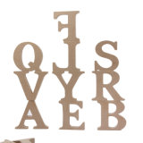 Bambino di legno delle lettere di alfabeto di a-Z 26 di numero del MDF 0-9 che impara i giocattoli