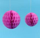 En forma de panal de diferente tamaño de bola de papel para decorar