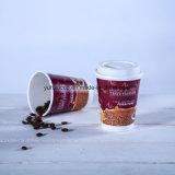 حاكّة قهوة [16وز] جدار مزدوجة يعزل فناجين مع غطاء