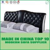 Zeitgenössisches modernes Schlafzimmer-Set-Möbel-Leder-Bett