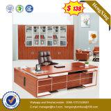 L Form-Stahlbein-Entwurfs-Eichen-Farben-Büro-Tisch (UL-MFC580)