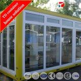 백색 노란 Prefabricated 팽창할 수 있는 콘테이너 집