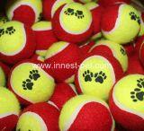 Sfera di tennis di gomma poco costosa accessoria del cane di marchio dell'elemento su ordinazione dell'animale domestico