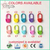 Pinos de segurança plásticos do ABS bonito do marcador do ponto de confeção de malhas das cores 22mm