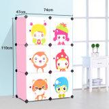 Armário de Roupa de plástico para crianças crianças grossista Modular Quarto roupeiro