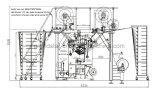 Máquina de confeção de malhas da urdidura do Tl 53/1f Multibar com placa da queda
