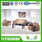 Sofá de cuero negro Muebles de oficina (A-10)