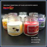 زجاجيّة مرطبان شمعة مع غطاء بلاستيكيّة وصنع وفقا لطلب الزّبون يشمّ شمعة