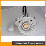 lampe tournable d'intérieur du système Downlight/de la forme DEL de joncteur réseau du cardan 45W