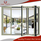 Portello di comitato piegante di alluminio di fabbricazione del Guangdong con doppio vetro
