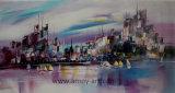 Wilkinsonのスカイラインのハンドメイドの油絵北欧様式のキャンバスの芸術の再生