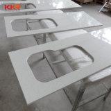 Pierre blanc en marbre miroir Quartz Composite Comptoir de cuisine haut de page