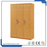 Moderne MDF Houten Slaapkamer Twee de Kast Armoire van de Garderobe van de Deur met Spiegel