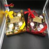 Glasglas-Kerzen mit Farben-Kasten