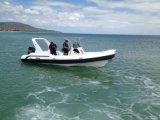 Liya 7.5mのガラス繊維の船外モーターを搭載する膨脹可能な肋骨の漁船の哨戒艇