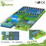 Großer Erwachsen-/Kind-kommerzieller konkurrierender Innentrampoline-Park mit weichem Spielplatz