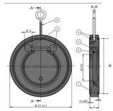 "2 "" Oblate-Rückschlagventil Zoll Belüftung-UPVC für DIN/ANSI Standard"