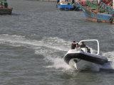 Liya 7.5m 섬유유리 선외 발동기를 가진 팽창식 늑골 어선 경비정