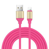1 m de cabo de dados redonda USB TPE para a Samsung iPhone 8/X