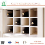 Aprontar para montar os armários de madeira da despensa do gabinete de cozinha com cremalheira Sri Lanka do vinho