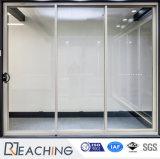 Porte insonorisée en verre claire élevée de Doubl de bâti en aluminium mince gentil