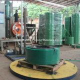 Correa grabada del plástico del rodillo enorme del color verde