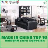 Sofá moderno clássico europeu do couro da mobília da sala de visitas