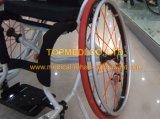Sillón de ruedas activo del deporte del ocio del baloncesto del surtidor de la terapia de la rehabilitación/sillón de ruedas de aluminio del entrenamiento para la neutralización